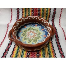 Ceramic tray with holders 16 cm