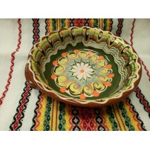 Ceramic tray with holders 18 cm