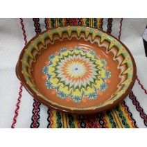 Ceramic tray with holders 21 cm