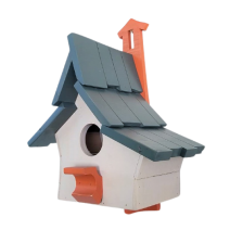 Wooden small colourful bird house