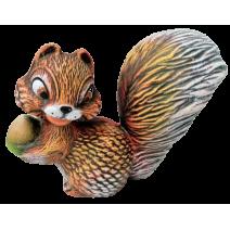 Ceramic squirrel - garden figure