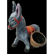Ceramic donkey - garden figure