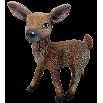 Ceramic young deer - garden figure