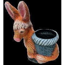 Ceramic donkey pot