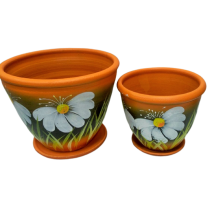 Ceramic flower pot - set of 2 pcs