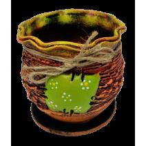 Ceramic flower pot - bag shape 1
