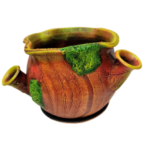 Ceramic flower stump pot