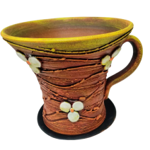 Ceramic flower pot - a cup big size