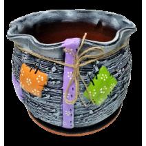 Ceramic flower pot - bag shape 4