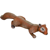 Ceramic squirrel for hanging - with long tail