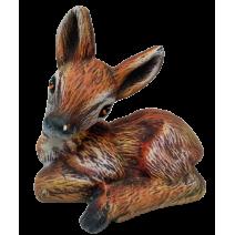 Ceramic sitting deer roe