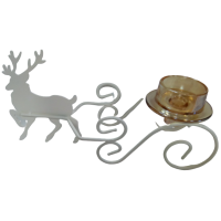 Christmas candleholder with deer
