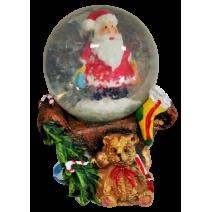 Christmas waterball Santa sitting on the chair
