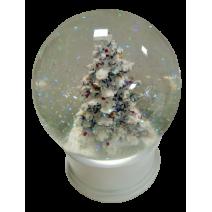 Christmas white water ball  tree plus music mechanism