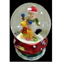 Christmas water ball - big size with music