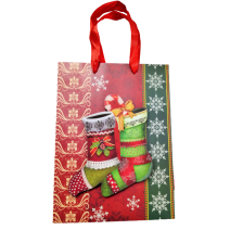 Christmas paper gift bag 18/24 cm