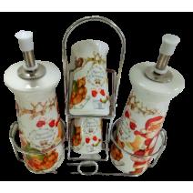 Christmas porcelain oil&vinegar set