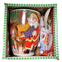 Christmas cup with a spoon in a box