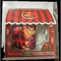 Christmas mug in a house box
