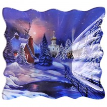 Christmas glass dish - square - 23 cm
