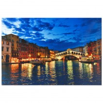 """Picture with LED lights """"Venice"""" 60 x 40 cm"""