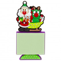 Magnetic Christmas Notepad - Santa Claus with the Deer