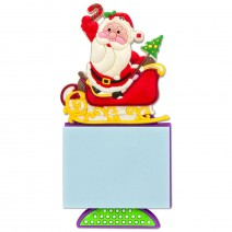 Magnetic Christmas Notepad - Santa Claus with Sled