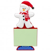 Magnetic Christmas Notebook - Snowman