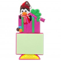 Magnetic Christmas Notebook - Penguin with a gift
