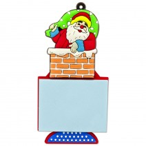 Magnetic Christmas Notebook - Santa in a chimney