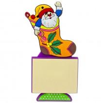 Magnetic Christmas Notebook - Santa in a Sock