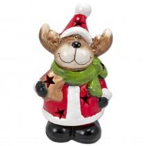 Decorative ceramic figure Deer with LED lighting - big size