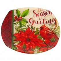 Christmas glass dish - square with rounded corners - 20cm