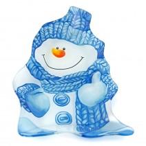 Christmas glass plate - snowman