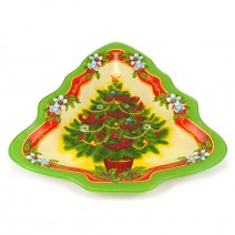 Christmas glass plate - Xmas tree