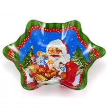 Christmas glass bowl - snowflake - 17 x 19 cm