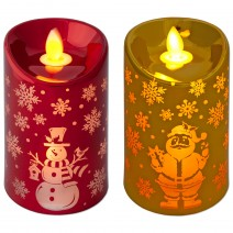 Decorative candleholder in metalic three colors with LED