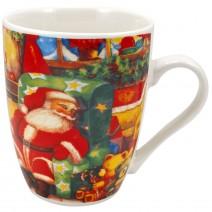 Christmas porcelain mug in a box