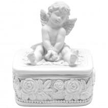 Jewelry box with angel - rectangular