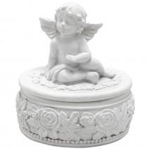 Jewelry box with angel - oval