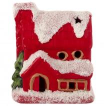 Decorative ceramic Christmas house with LED lighting 1