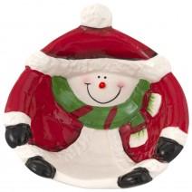 Christmas Ceramic Bowl - Snowman