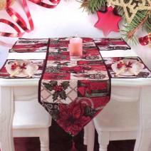 Christmas Table Cover (Tishlifer) - 33 x 150 cm