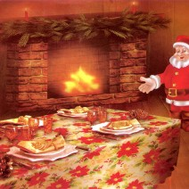 Christmas table cover - round ⌀150 cm
