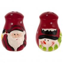 Christmas set of ceramic salt@peppers