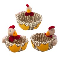 A set of Easter panners with chicken