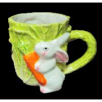 Easter ceramic cup - cabbage seria