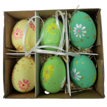 Easter eggs - set of 6 pcs in a box