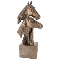 Decorative figure - a pair of horse heads
