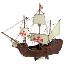 Decorative model of wooden sailing ship